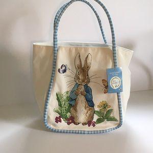 Beatrix Potter Peter Rabbit Canvas Tote Bag NWT
